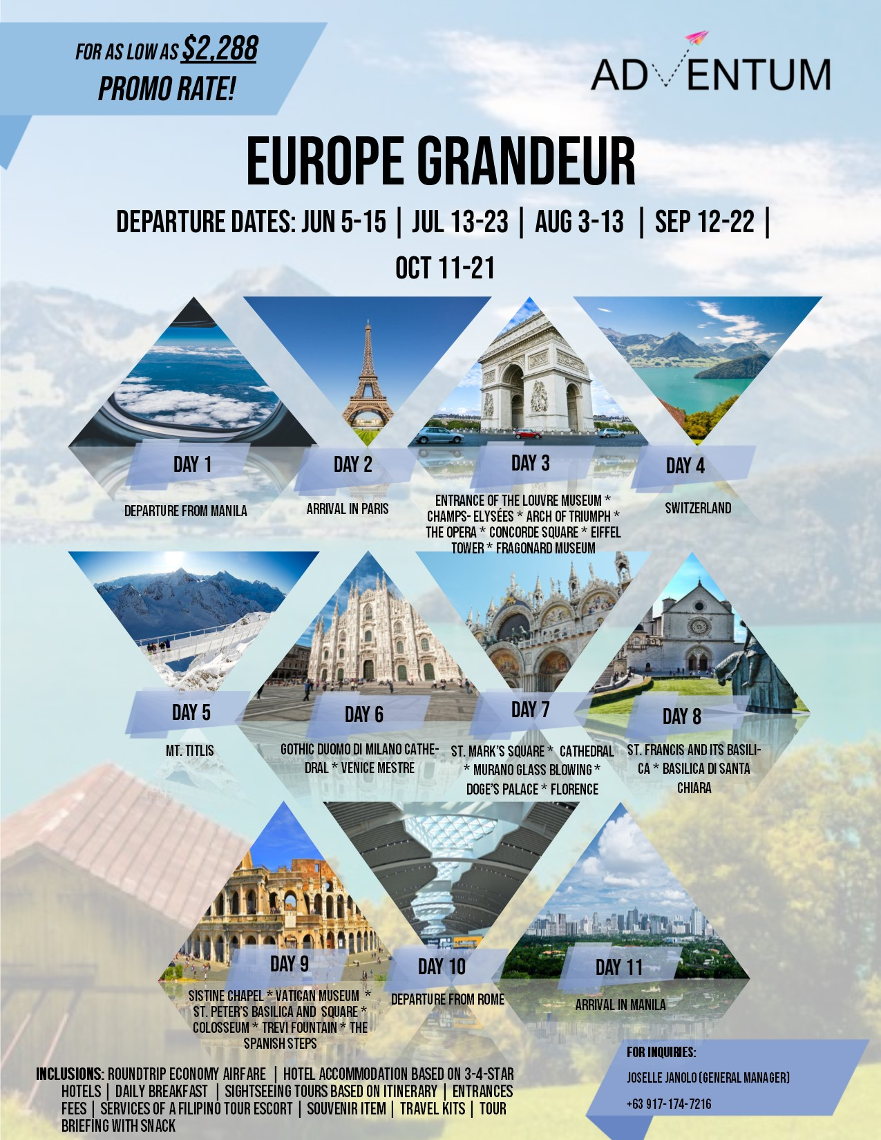 Europe Tour Package  Adventum Philippines